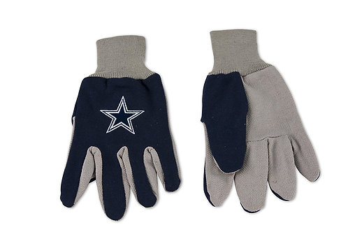 Cowboys Adult 2-Tone Gloves