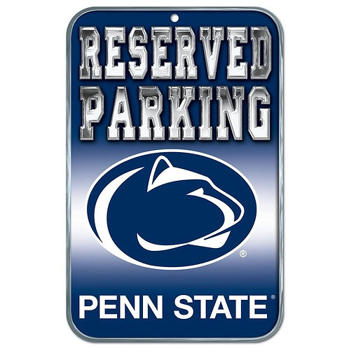 "Penn State ""Reserved Parking"" Sign"