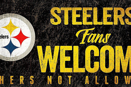 Steelers Fans Welcome Sign