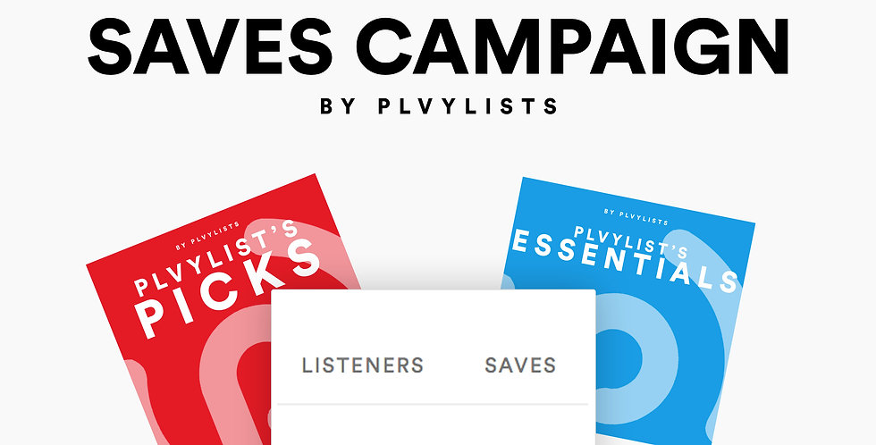 Get 1,000+ Saves from Playlist Fans!