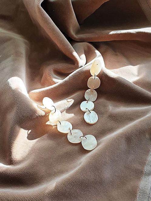 Pebble drop earrings