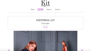 'Liv' editorial for Kit Magazine.