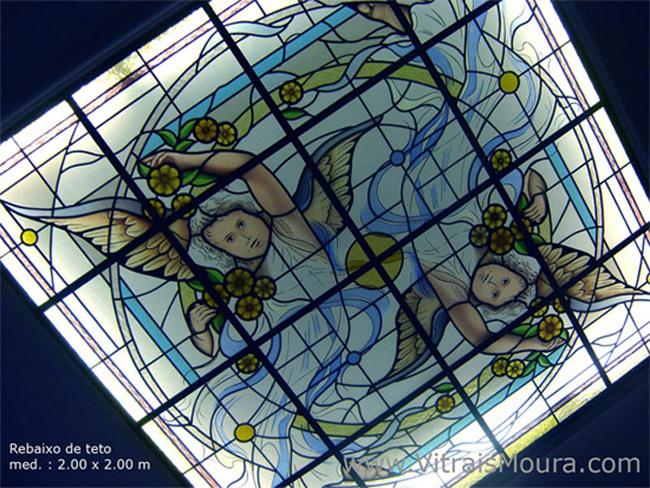 rebaixo de teto anjos vitral