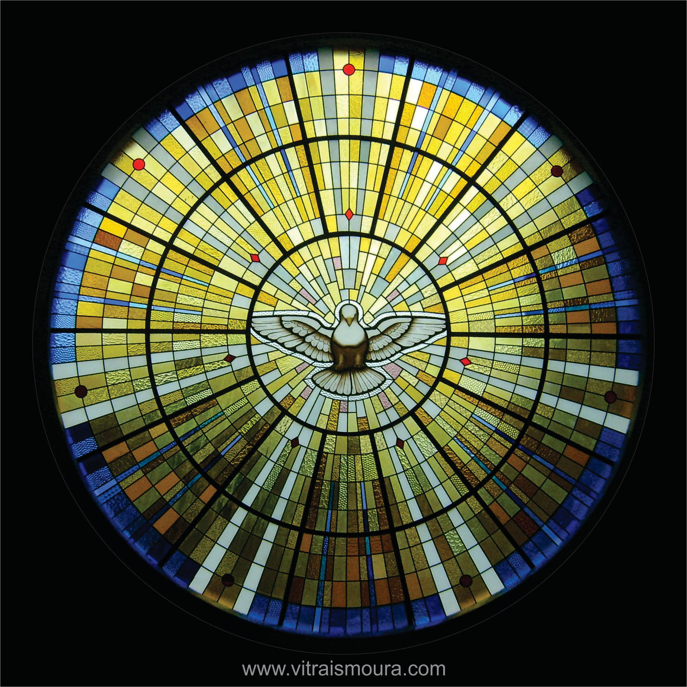 vitral Divino Espirito Santo