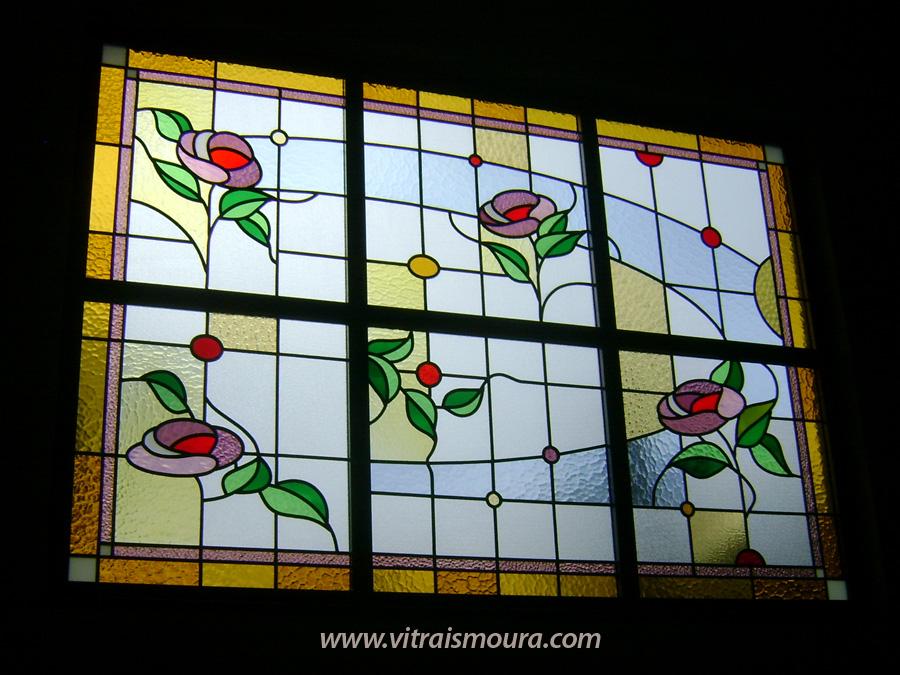 vitral rosas