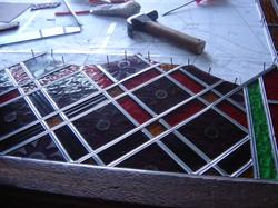 Montagem do vitral