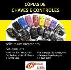 Copias de chaves e controles