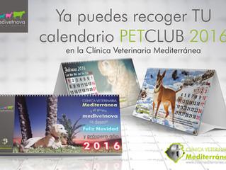 Ya puedes recoger el nuevo calendario PETCLUB 2016