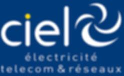 Ciel électricité SA | Logo blanc | Lausanne Suisse