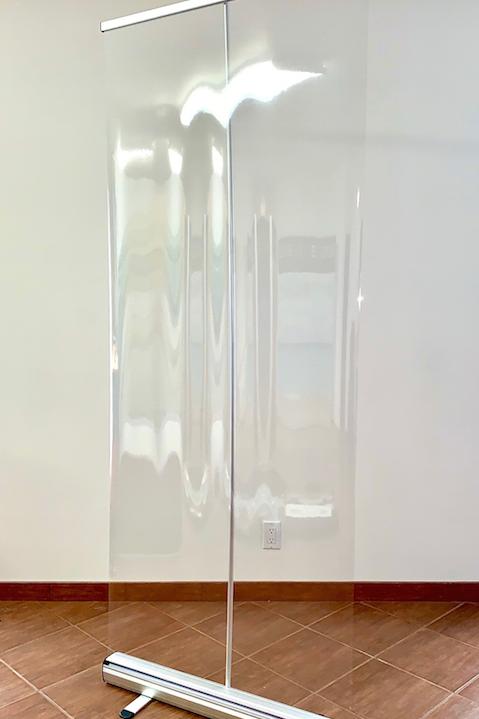 Bannière rétractable Écran souple transparent