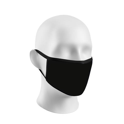 Masque réutilisable 2 épaisseurs en noir uni - À l'unité
