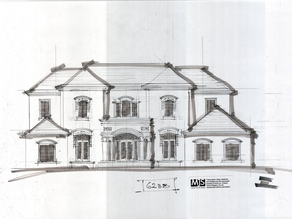 """""""Massing Studies"""" explore what a house will look like, ensuring good classical proportions"""