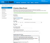Online registration, Its Your Race
