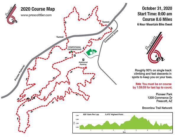 Prescott 6'er Course Map 2020
