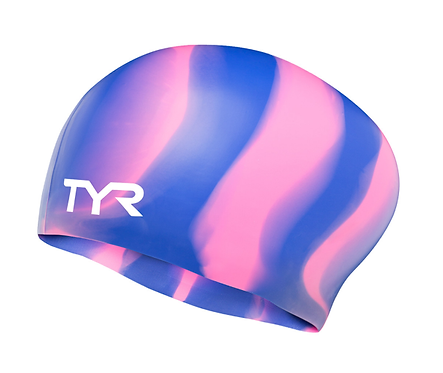 TYR LONG HAIR WRINKLE FREE SILICONE ADULT SWIM CAP