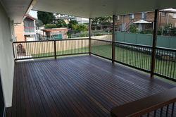 Powder coated balustrade