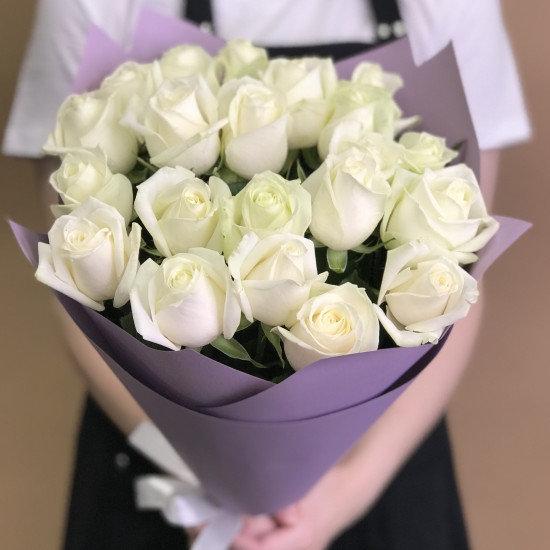 Букет из белых роз 21шт(50см)
