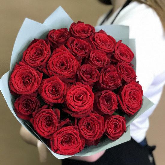 Букет из красных роз 21шт(50см)