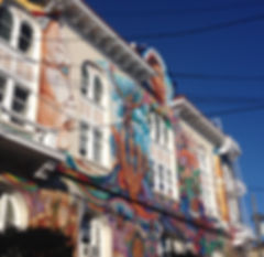 San Francisco by Gilles guide privé français mission fresques murales street art maison bleue de la femme women building