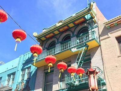 San Francisco by Gilles visite en francais Grant Stockton Street pagode lampion marché