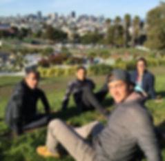 San Francisco by Gilles visite privative Dolores Park vue panoramique sur Downtown palmier