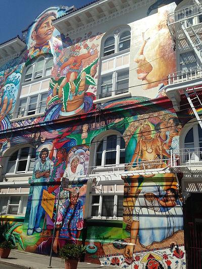 San Francisco by Gilles visite privative Mission Maison Bleue Maxime Le Forestier Maison de la Femme Women's Building Fresques murales