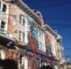 San Francisco by Gilles visite privée Mission Murals Women's building maison femme street art