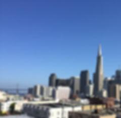 San Francisco by Gilles visite en français rooftop north beach transamerica pyramid bay bridge downtown