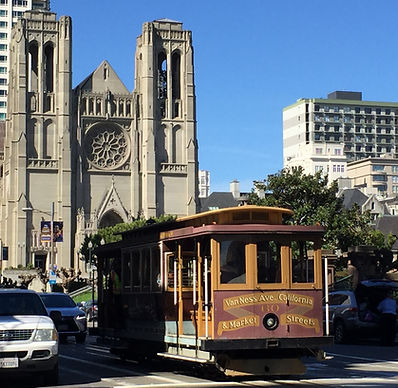 San Francisco by Gilles visite privative Nob Hill Cable Car California Street Cable Car Musée Museum et Grace Cathedral