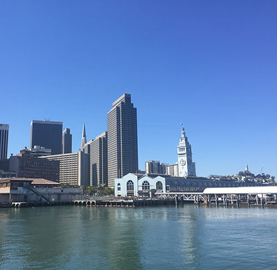 San Francisco by Gilles visite collective embarcadero ferry building skyline bay