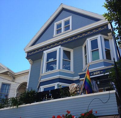 San Francisco by Gilles visite privée Maison bleue Maxime le Forestier Castro Mission Dolores Park