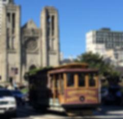 San Francisco by Gilles visite en français nob hill cable car musée museum grace cathedral palace mark hopkins fairmont hotel