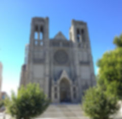 San Francisco by Gilles Grace Cathedral Nob Hill Notre dame de Paris