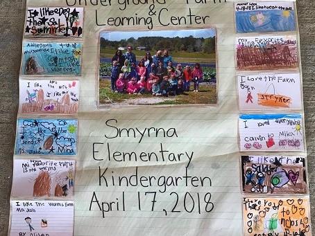 Smyrna Elementary Kindergarten Class goes to Underground Farm!