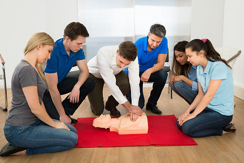 First Aid Instructor Showing Resuscitati