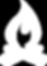 White Campfire Icon