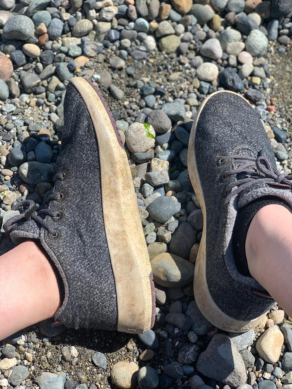Allbirds sustainable sneakers slightly dirty