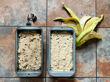 Zero Waste Banana Peel Bread