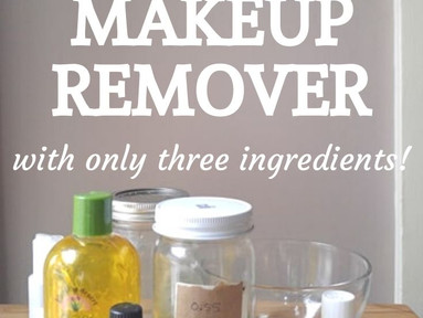 DIY Zero Waste Make-Up Remover