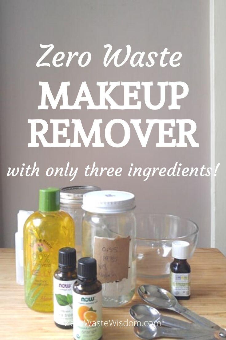 Zero Waste Makeup Remover Pinterest Graphic