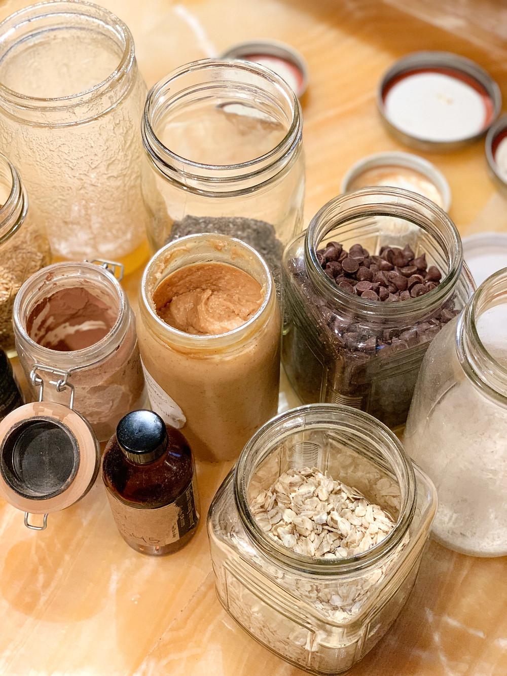 bulk ingredients to make zero waste energy bites