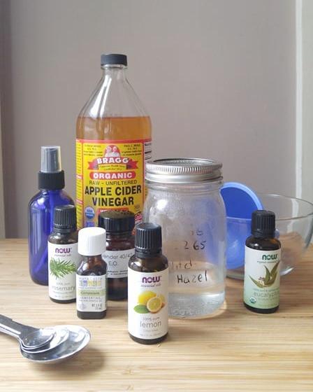 DIY Zero Waste Bug Spray ingredients