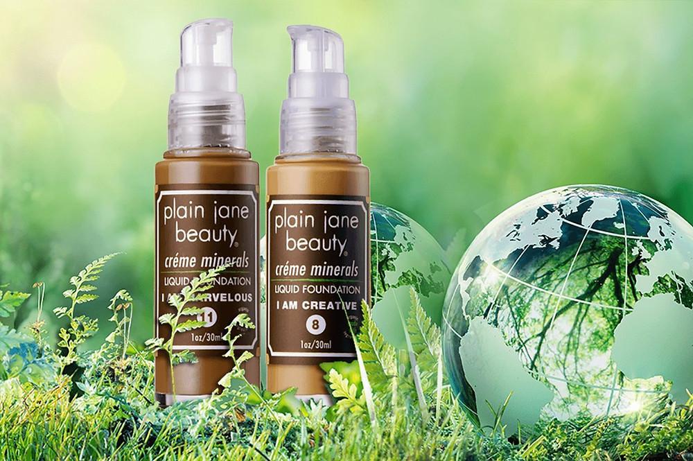 Plain Jane Beauty foundation on earth background