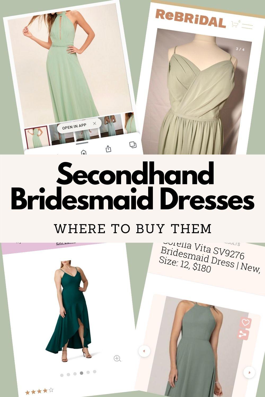 Secondhand Bridesmaid Dresses Pinterest Pin