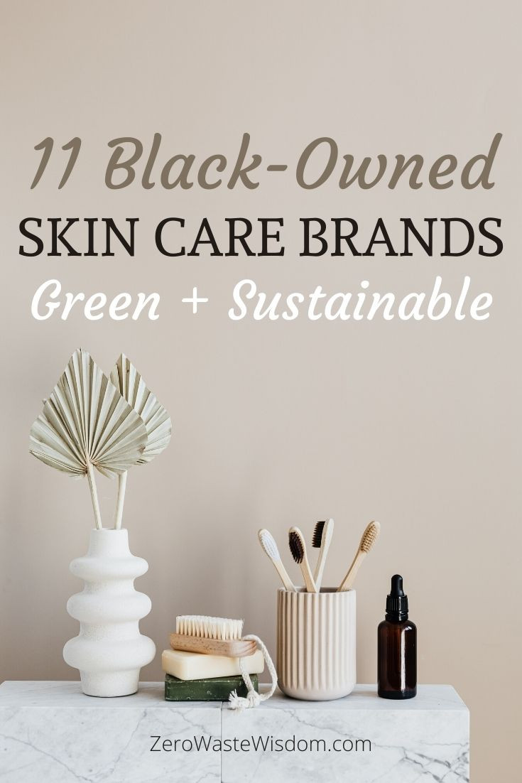 Black-owned Green and Sustainable Skincare Brands pinterest pin