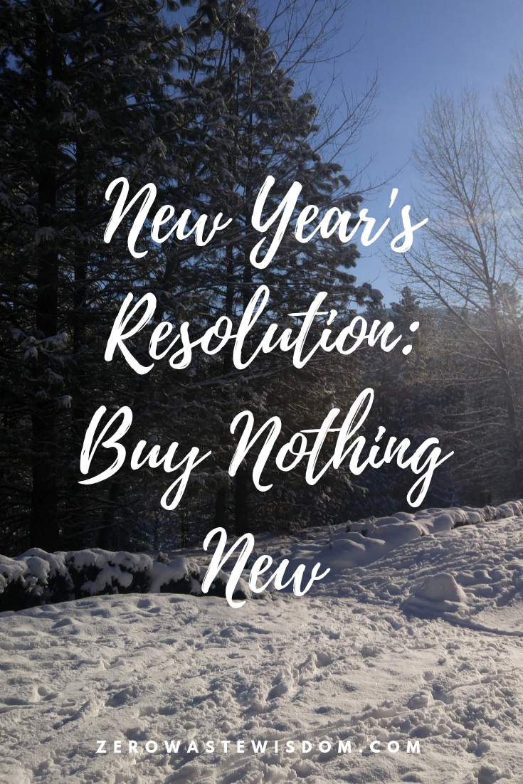 Buy Nothing New snow