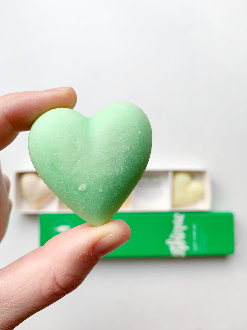 heart shaped lotion bar