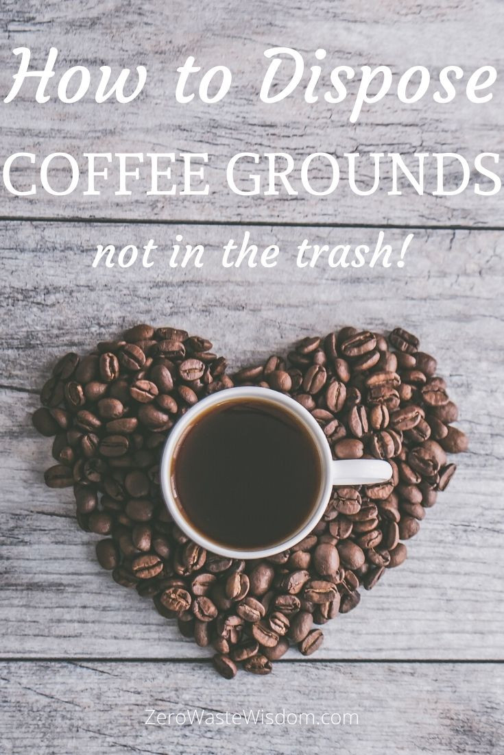 How to dispose coffee grounds pinterest pin heart coffee