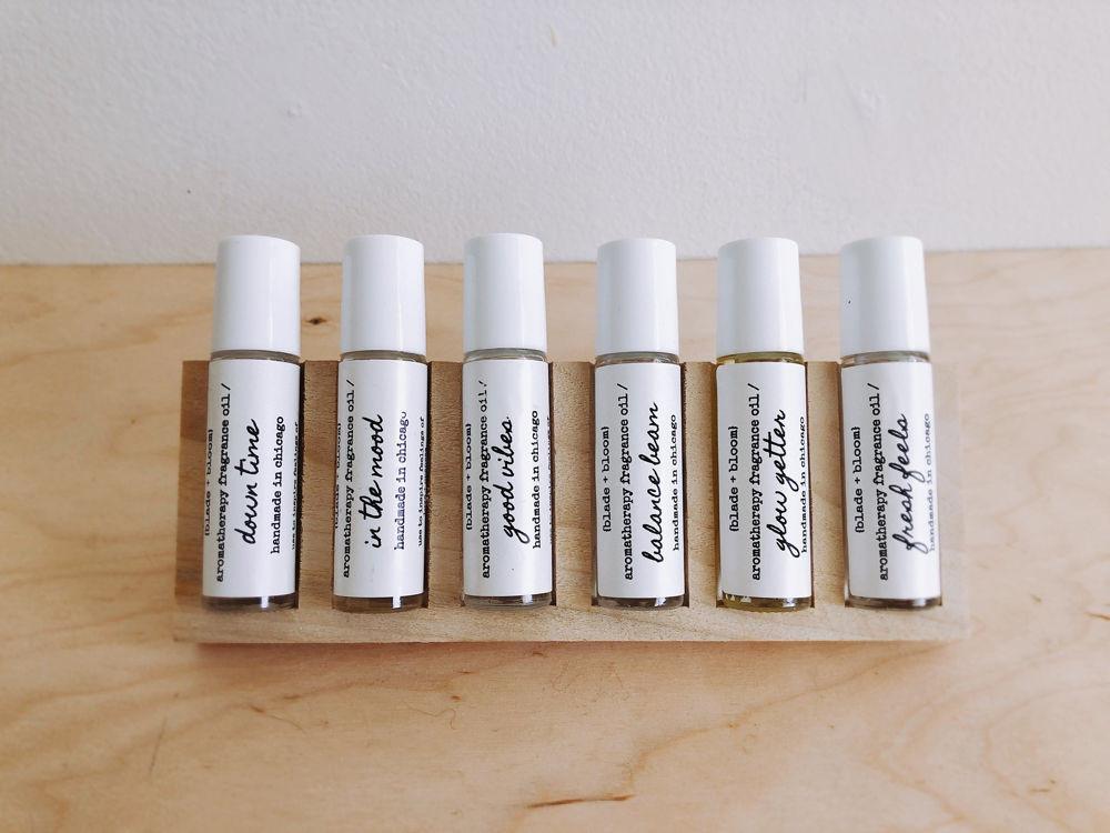 Blade + Bloom six facial oil vials