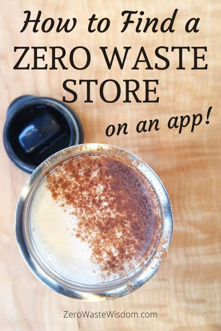 How to Find a Zero Waste Store on an App Pinterest Pin